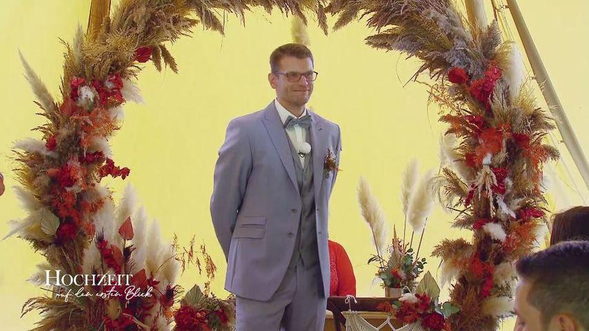 """""""Hochzeit auf den ersten Blick""""-Kandidat Manuel bei seiner Hochzeit"""