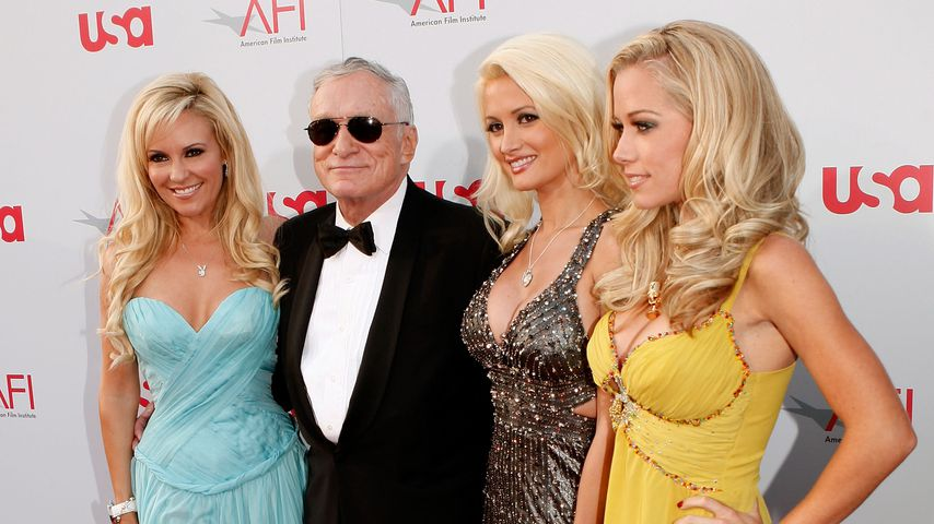Holly Madison, Hugh Hefner, Bridget Marquardt, Kendra Wilkinson beim AFI Life Achievement Award 2008