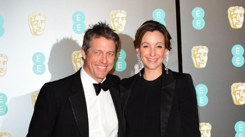Hugh Grant und Anna Eberstein bei den British Academy Awards 2018