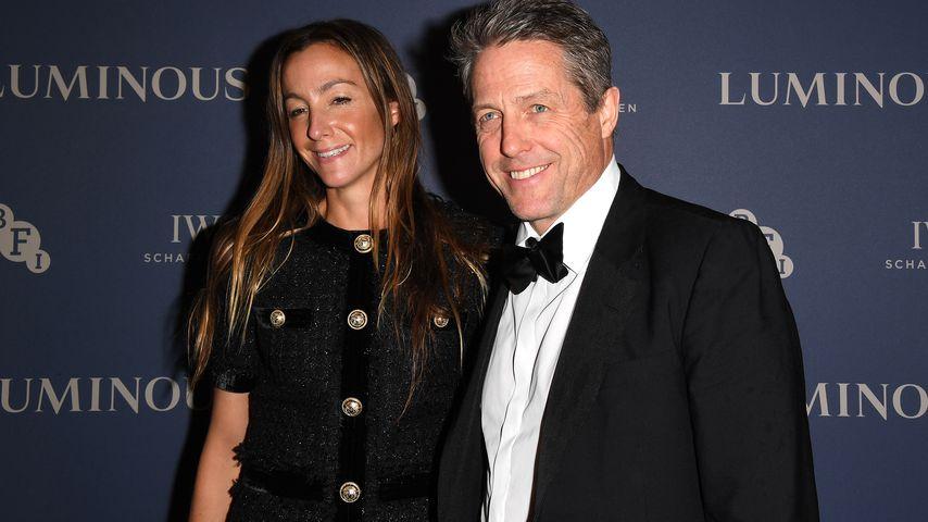 Hugh Grant und seine Ehefrau  Anna Eberstein im Oktober 2019