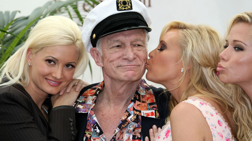 Hugh Hefner, Holly Madison, Bridget Marquardt und Kendra Wilkinson