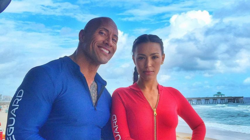 "Dwayne ""The Rock"" Johnson und Ilfenesh Hadera"