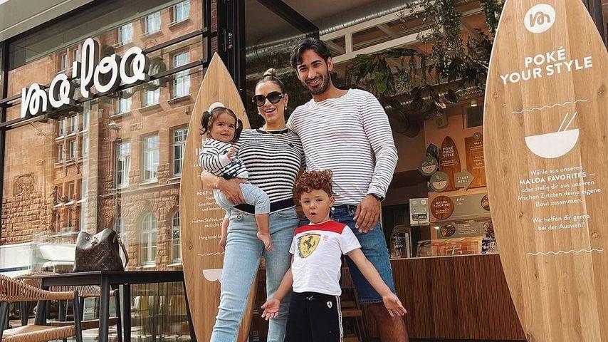 Ina Maria Schnitzer und Umut Kekilli mit ihren Kindern Kaia und Marcello