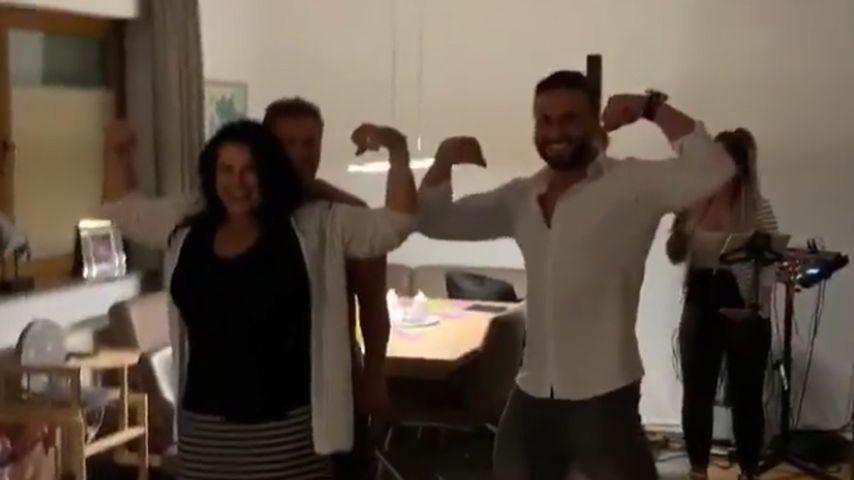 Iris und Peter Klein mit Jenny Frankhauser und Freund Hakan Akbulut, Juni 2019
