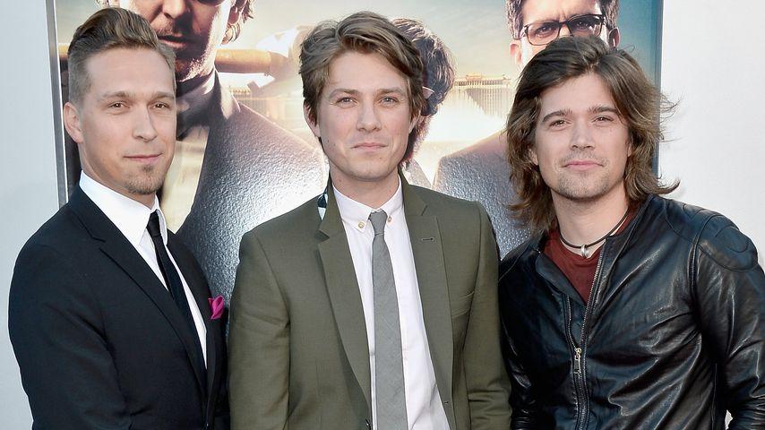 """Isaac, Taylor und Zac Hanson bei der Premiere von """"Hangover 3"""""""