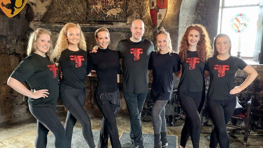 """Isabel Edvardsson und Marta Arndt bei ihrem Training für """"Llambis Tanzduell"""""""