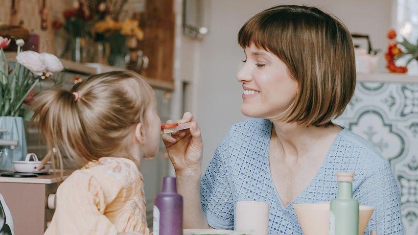 Isabell Horn mit Tochter Ella, März 2019
