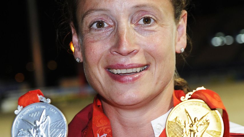 Isabell Werth bei den Olympischen Sommerspielen in Peking im August 2008