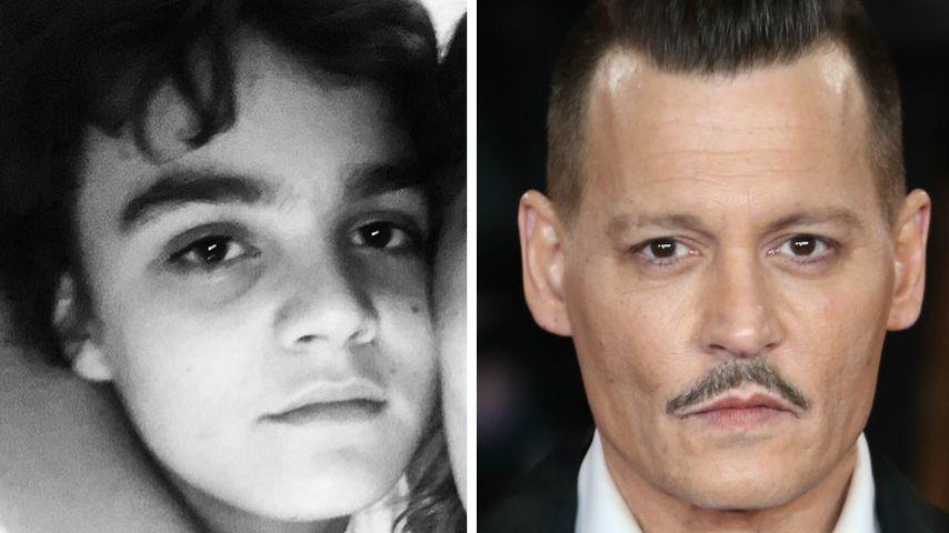 Collage: Jack Depp und Johnny Depp