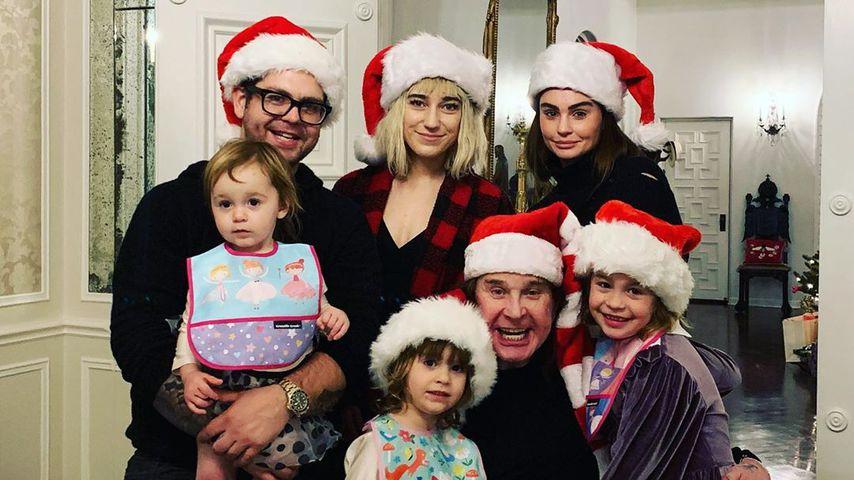 Jack Osbourne mit seiner Familie an Weihnachten 2019