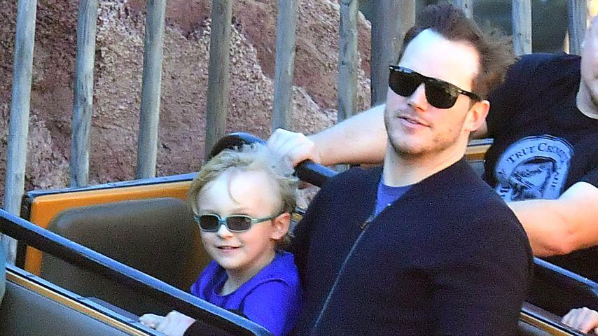 Jack und Chris Pratt in Disneyland