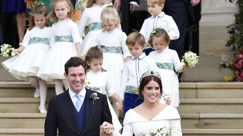 Prinzessin Eugenie mit ihrem Ehemann Jack bei ihrer Hochzeit