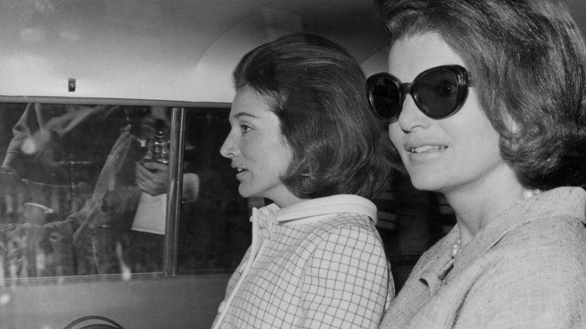 Jacqueline Kennedy und ihre Schwester Lee Radziwill in London