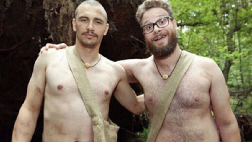 Nackter Protest: James Franco & Seth Rogen verspotten Trump!
