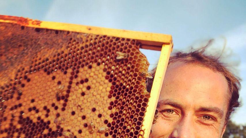 James Middleton mit seinen Bienenwaben, August 2019