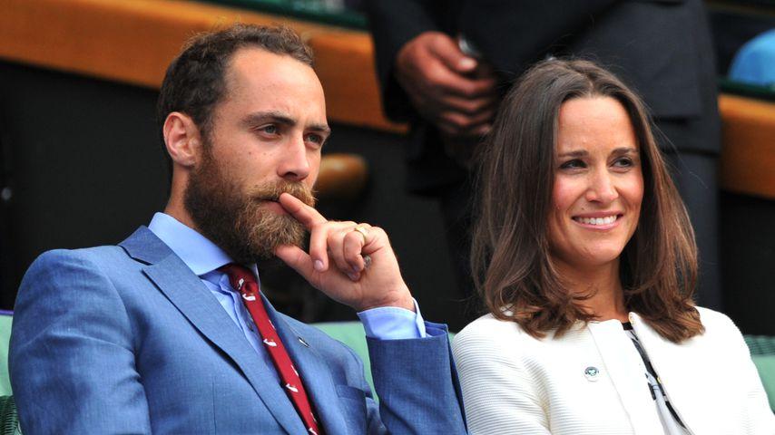 James und Pippa Middleton bei Wimbledon 2014