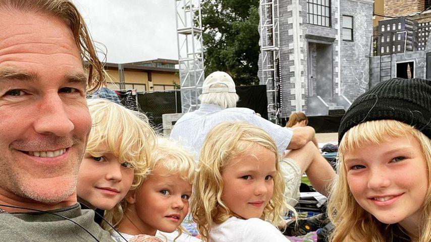James Van der Beek mit seinen Kinder im Juli 2021