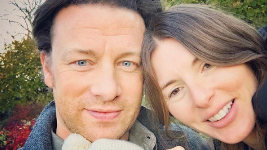 Star-Koch Jamie Oliver: Süßes Foto mit Gattin & Baby River