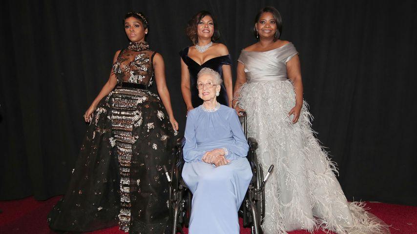 Janelle Monae, Katherine Johnson, Taraji P. Henson und Octavia Spencer bei den Oscars in L.A. 2017