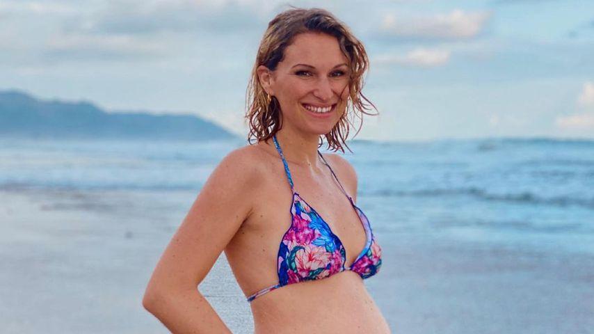 Janni Kusmagk im sechsten Schwangerschaftsmonat, Mai 2021