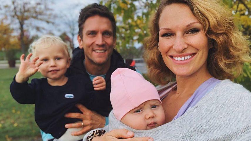 Peer und Janni Kusmagk mit ihren Kids Emil-Ocean und Yoko