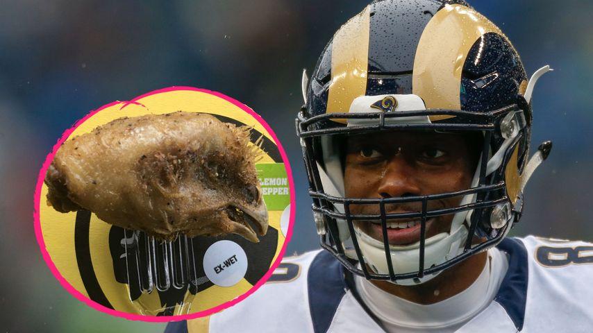 Eklig: NFL-Star findet Hühnerkopf in seinen Chicken Wings!