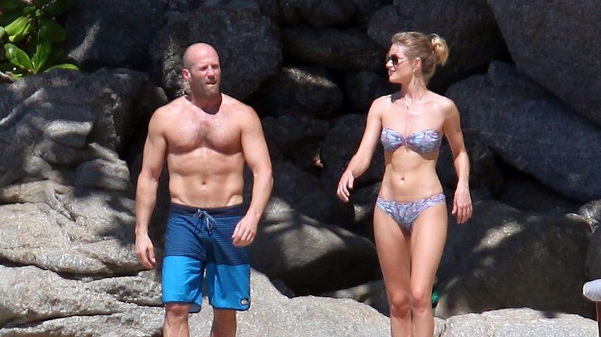 Jason Statham & Rosie: Keine Spur von Xmas-Speck!