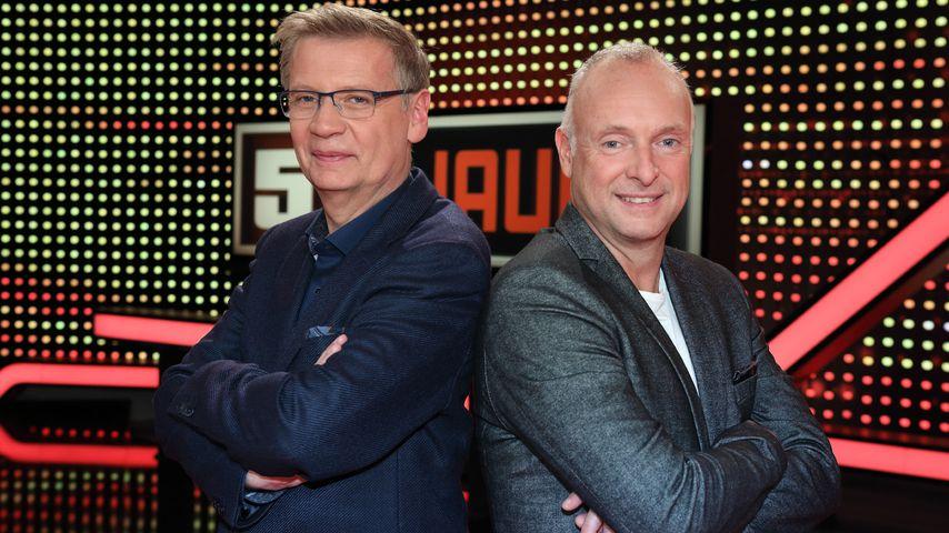 """Günther Jauch und Frank Buschmann bei """"5 gegen Jauch"""""""