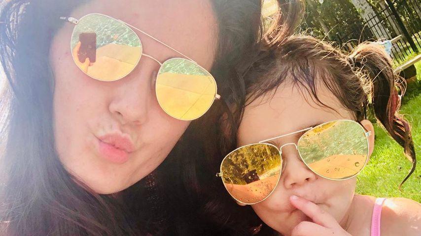 Jenelle Evans mit ihrer Tochter Ensley, August 2019