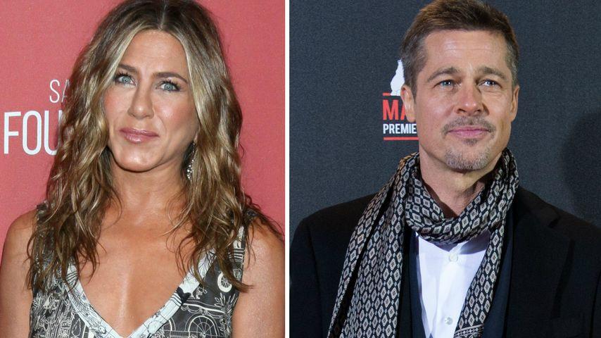 Das läuft wirklich zwischen Jennifer Aniston und Brad Pitt