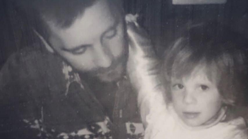 Jennifer Frankhauser in jungen Jahren mit ihrem Vater
