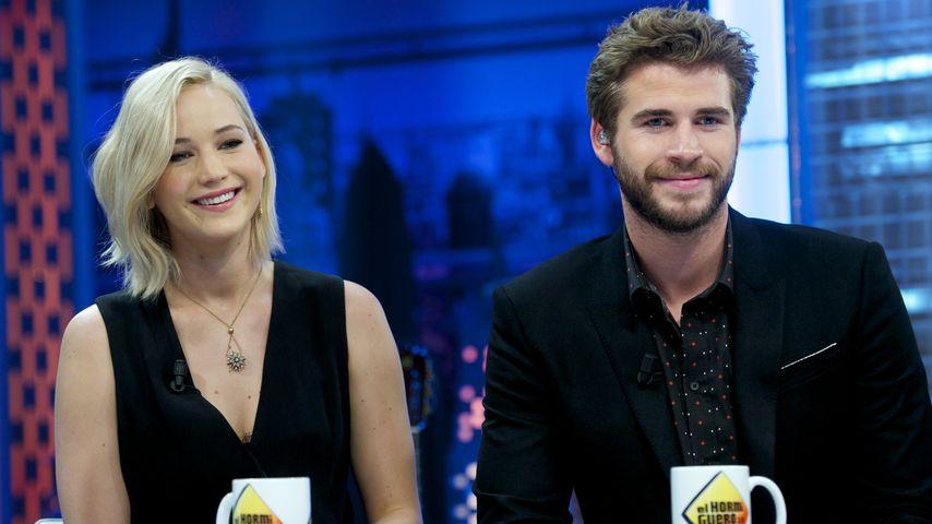 Jennifer Lawrence und Liam Hemsworth, Madrid 2015