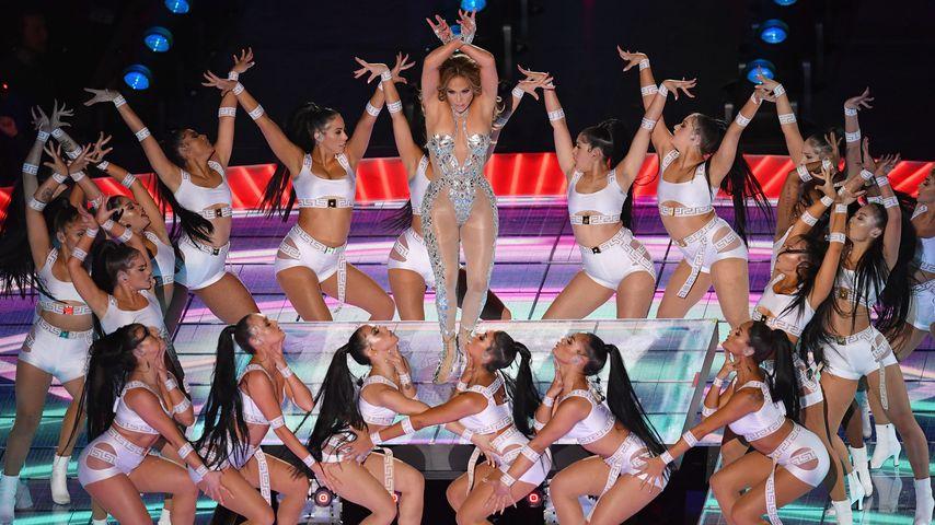 Jennifer Lopez in der Halbzeitshow des 54. Super Bowl