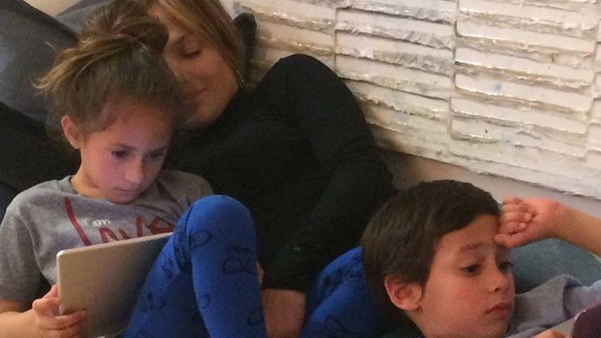 Jennifer Lopez, Maximilian David Muñiz und Emme Maribel Muñiz