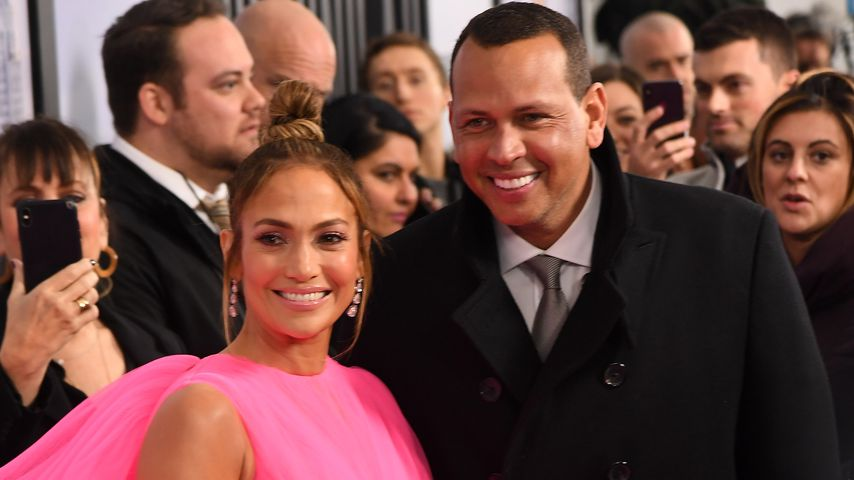 "Jennifer Lopez und Alex Rodriguez bei der Premiere von ""Manhattan Queen"" in New York City"