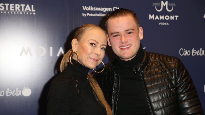 Jenny Elvers mit ihrem Sohn Paul bei einer Party im Hamburger Alstertal-Einkaufszentrum
