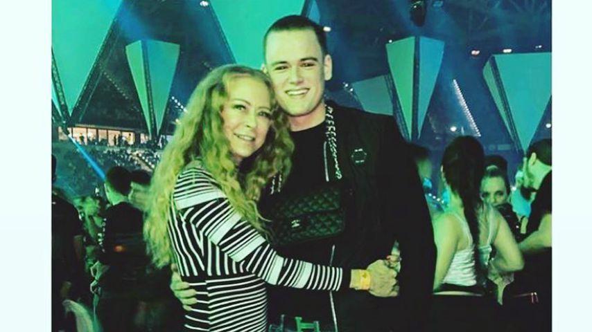 Jenny Elvers und ihr Sohn Paul im Januar 2020