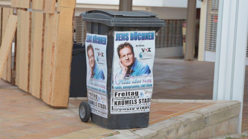 Jens Büchner ziert jetzt Mallorcas Mülltonnen