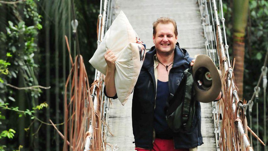 Jens Büchner bei seinem Dschungelcamp-Auszug