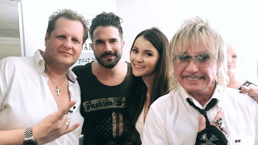 Jens Büchner, Marc Terenzi, Kattia Vides und Bert Wollersheim bei der Eröffnung der Faneteria auf Ma