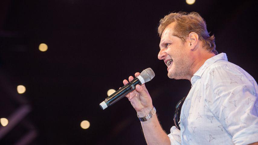 Jens Büchner bei einem Auftritt im Mega-Park im September 2018