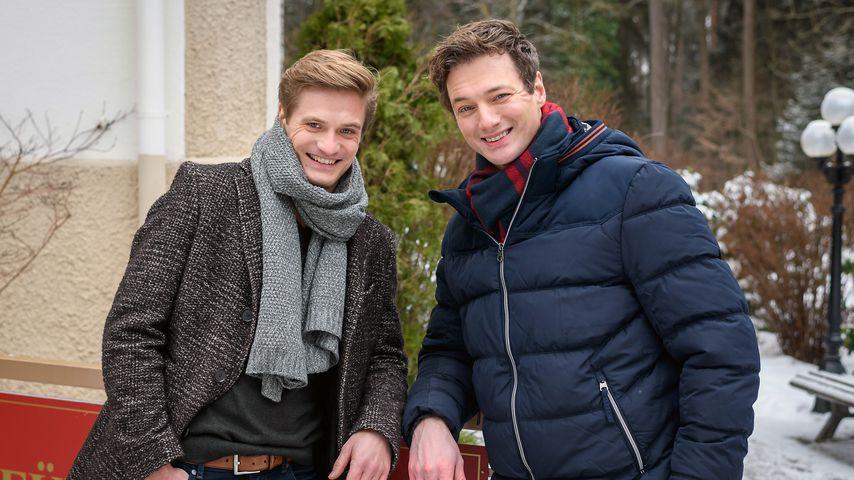 """Jeroen Engelsman und Patrick Dollmann am """"Sturm der Liebe""""-Set"""