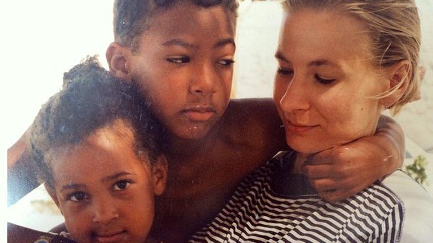 Jérôme und Avelina Boateng früher mit ihrer Mama