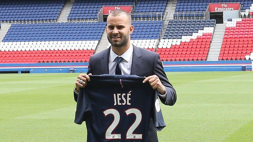 Jesé bei seiner Vorstellung in Paris