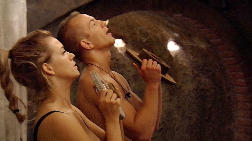 Jessica Paszka und Frank Stäbler beim gemeinsamen Workout in der Kanalisation