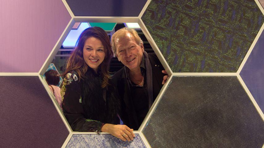 Jessica Schwarz mit ihrem Vater Thomas im Januar 2016