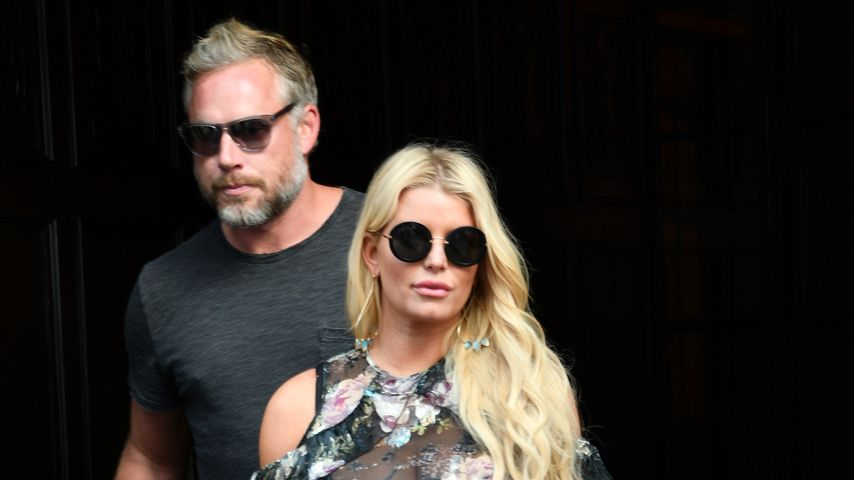Jessica Simpson mit ihrem Ehemann Eric Johnson in New York