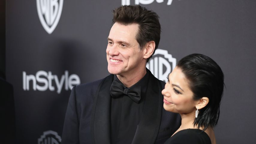 Jim Carrey und Ginger Conzaga bei der Warner Bros. Golden Globes After Party 2019