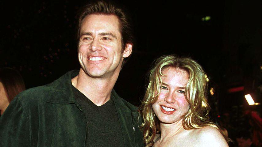 Jim Carrey und Renée Zellwegger im Dezember 1999