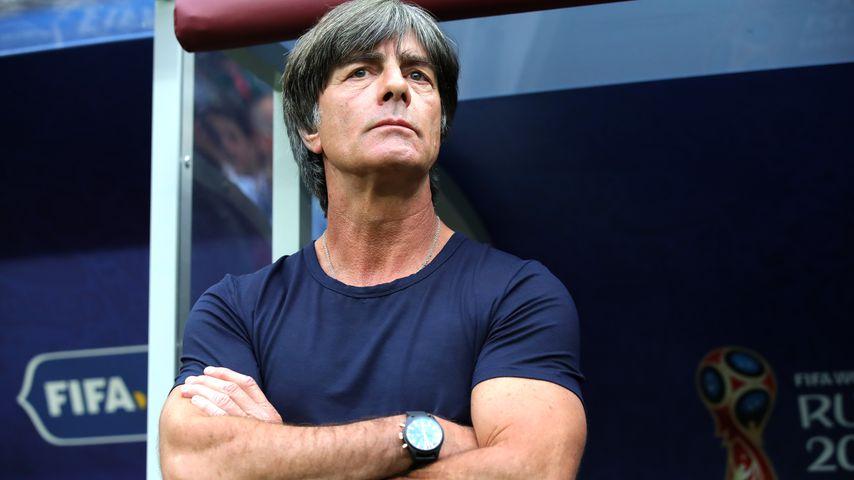 Nationaltrainer Joachim Löw bei der WM-Begegnung Deutschland - Mexiko 2018